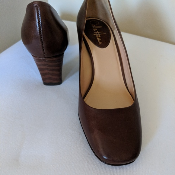 Cole Haan Square Toe Brown Pumps Size 6